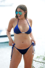 Imogen Thomas shows off breast reduction in Bikini at a Beach in Mallorca