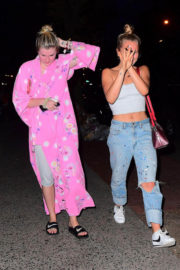 Ireland Baldwin and Sailor Brinkley Cook Stills Night Out in New York