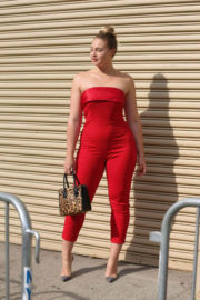 Iskra Lawrence at Badgley Mischka Fashion Show in New York