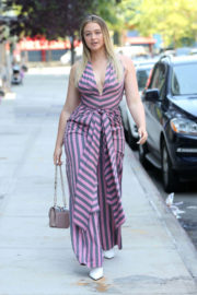 Iskra Lawrence in Jumpsuit Out in New York
