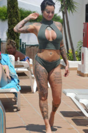 Jemma Lucy Stills in Bikini on Vacation in Ibiza