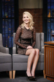 Jennifer Lawrence Stills at Late Night with Seth Meyers in NYC