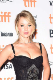 Jennifer Lawrence wears a Tight Dress for Mother! Premiere at TIFF