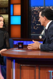 Jessica Biel at Late Show with Stephen Colbert