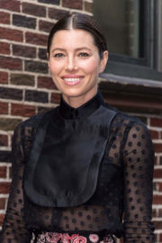 """Jessica Biel Stills Arrives at """"Late Show with Stephen Colbert"""" in New York"""