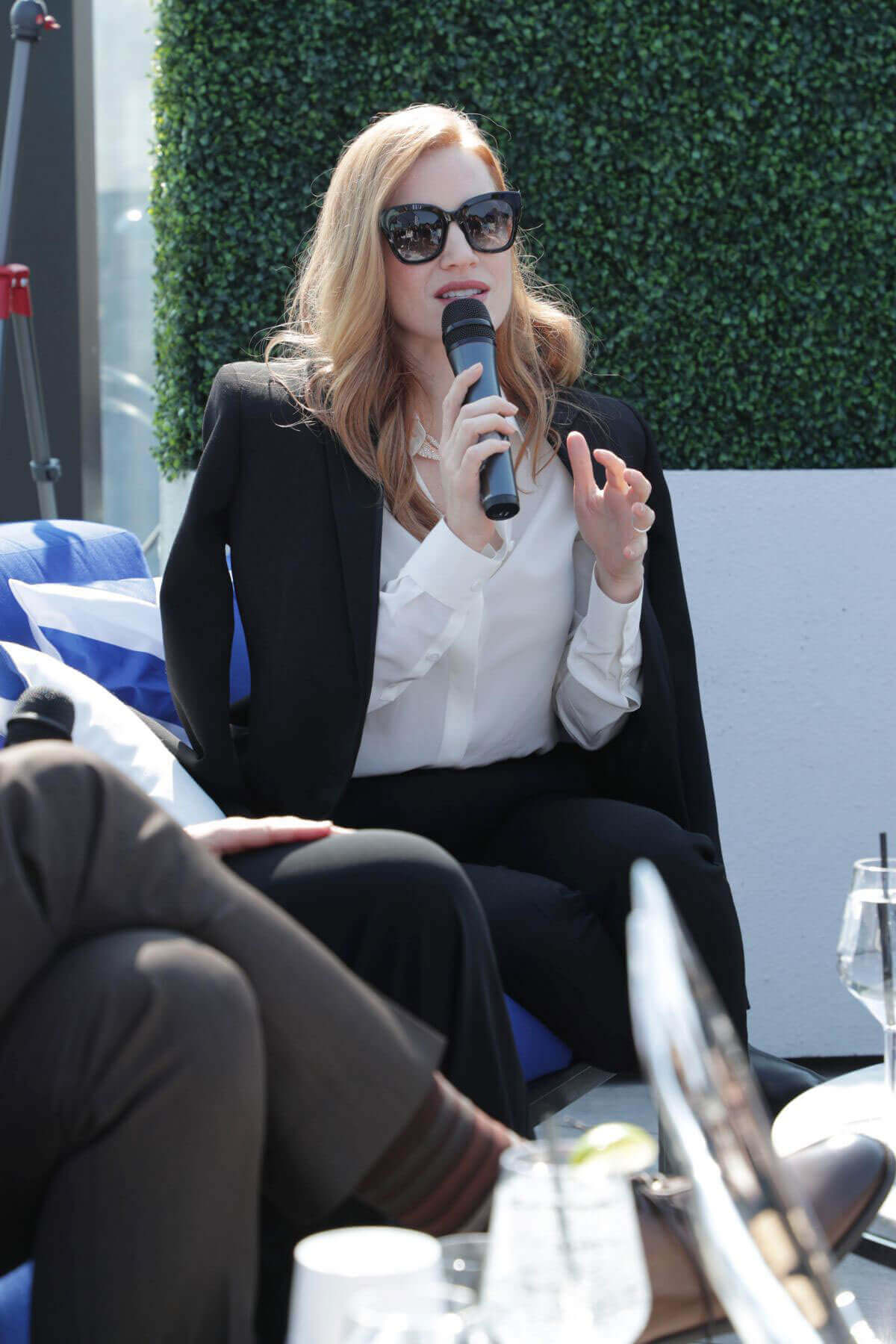 "Jessica Chastain at Grey Goose Cocktails & Conversation With Cast of ""Woman Walks Ahead"" in Toronto"