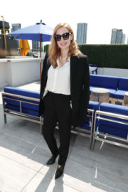 """Jessica Chastain at Grey Goose Cocktails & Conversation With Cast of """"Woman Walks Ahead"""" in Toronto"""