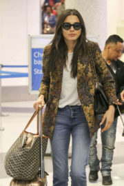 Jessica Gomes at Los Angeles International Airport in Los Angeles