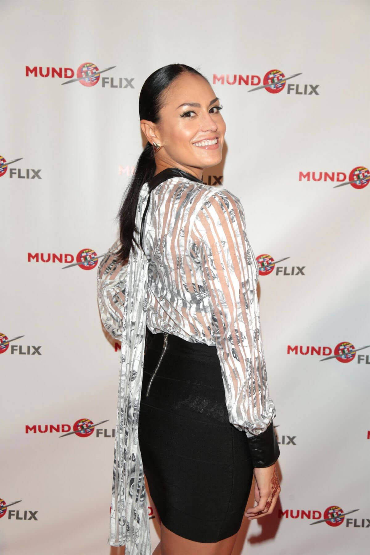 Jessica Meza Stills at MundoFlix Launch Party in Studio City