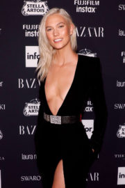 Karlie Kloss shows off at Harper's Bazaar Icons Party in New York