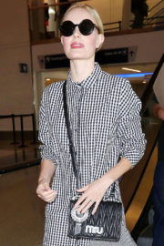 Kate Bosworth shows off lean legs at LAX Airport in Los Angeles