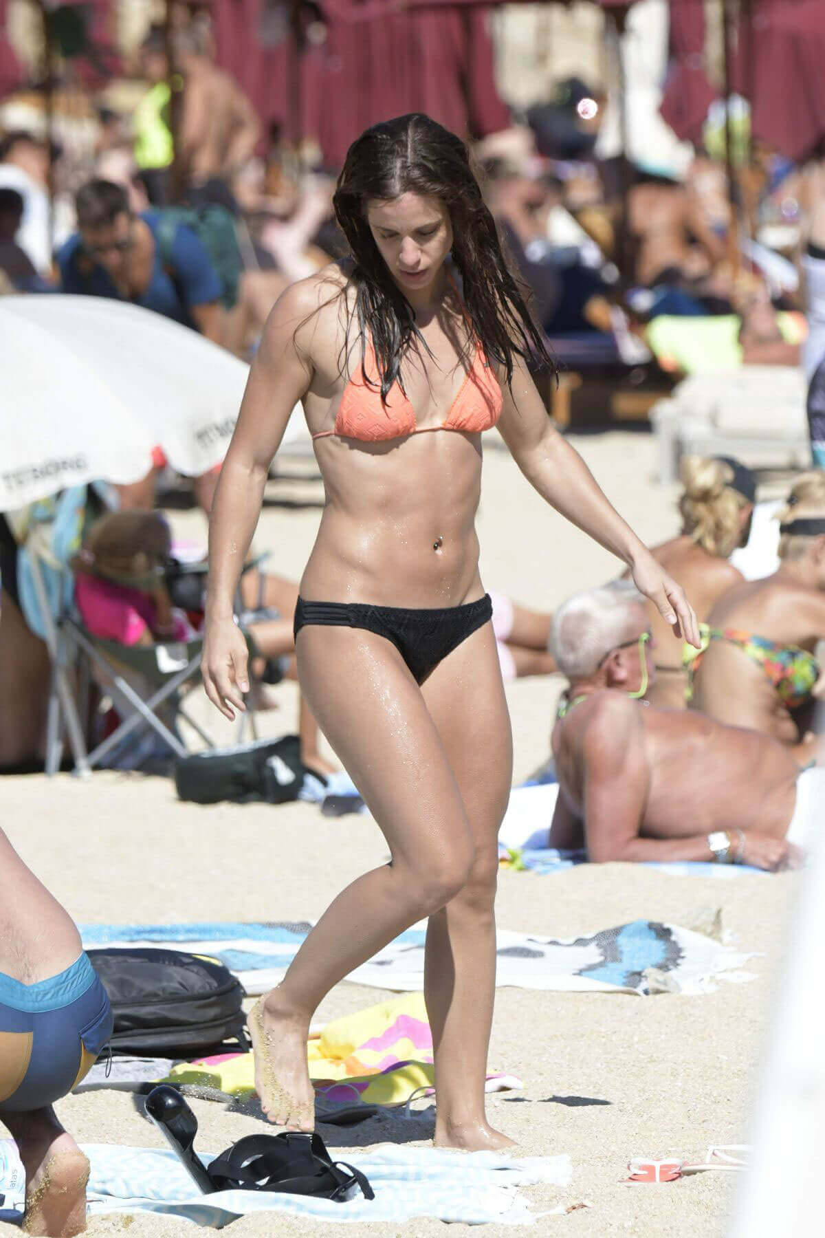 Katerina Stefanidi in Bikini at a Beach in Mykonos