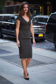 Katie Holmes Stills at Leaving Her Hotel in New York City