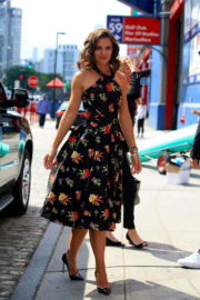 Katie Holmes wears Flowers Frock Out and About in New York