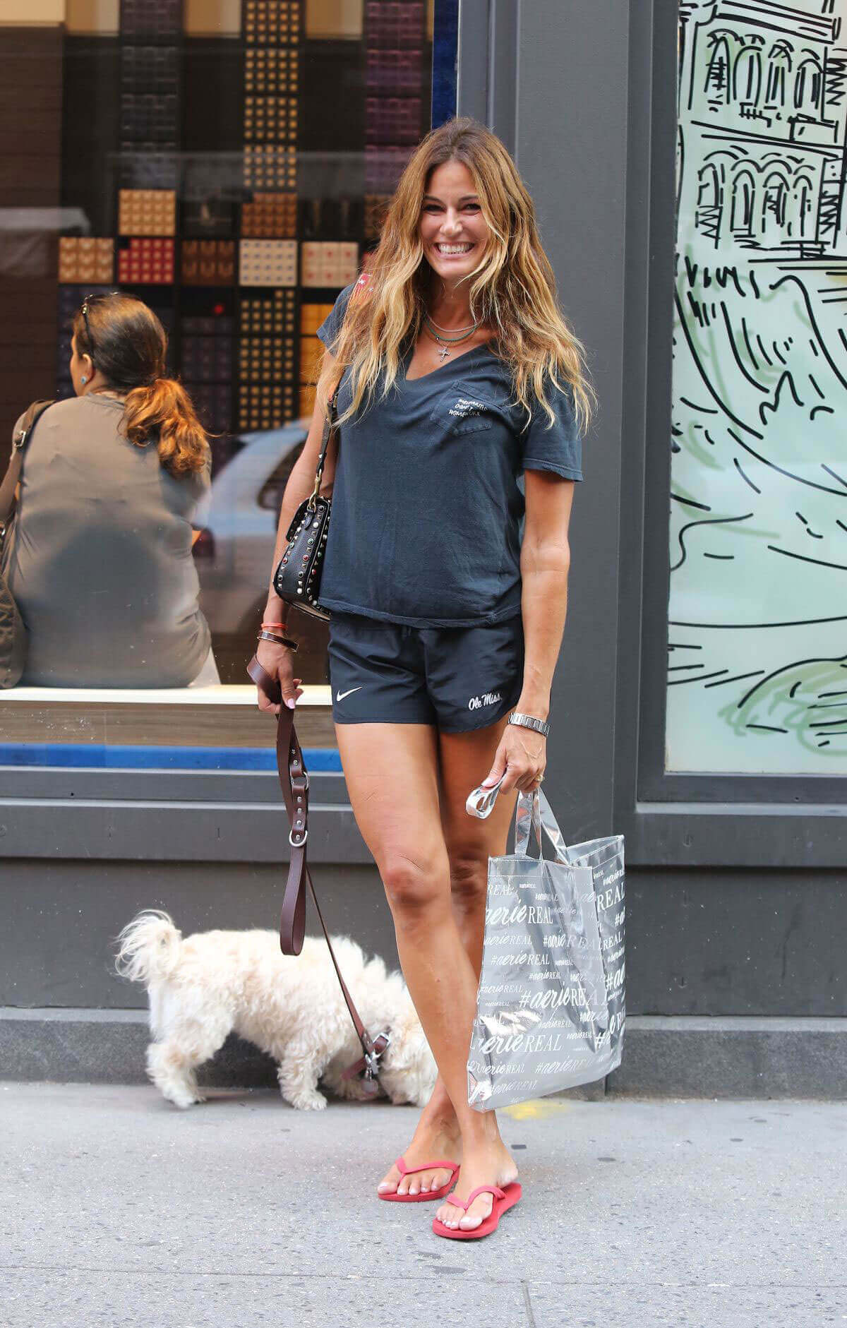 Kelly Killoren Bensimon Stills Out with Her Dog in New York