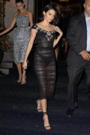 Kendall Jenner wears Transparent Dress Night Out in New York