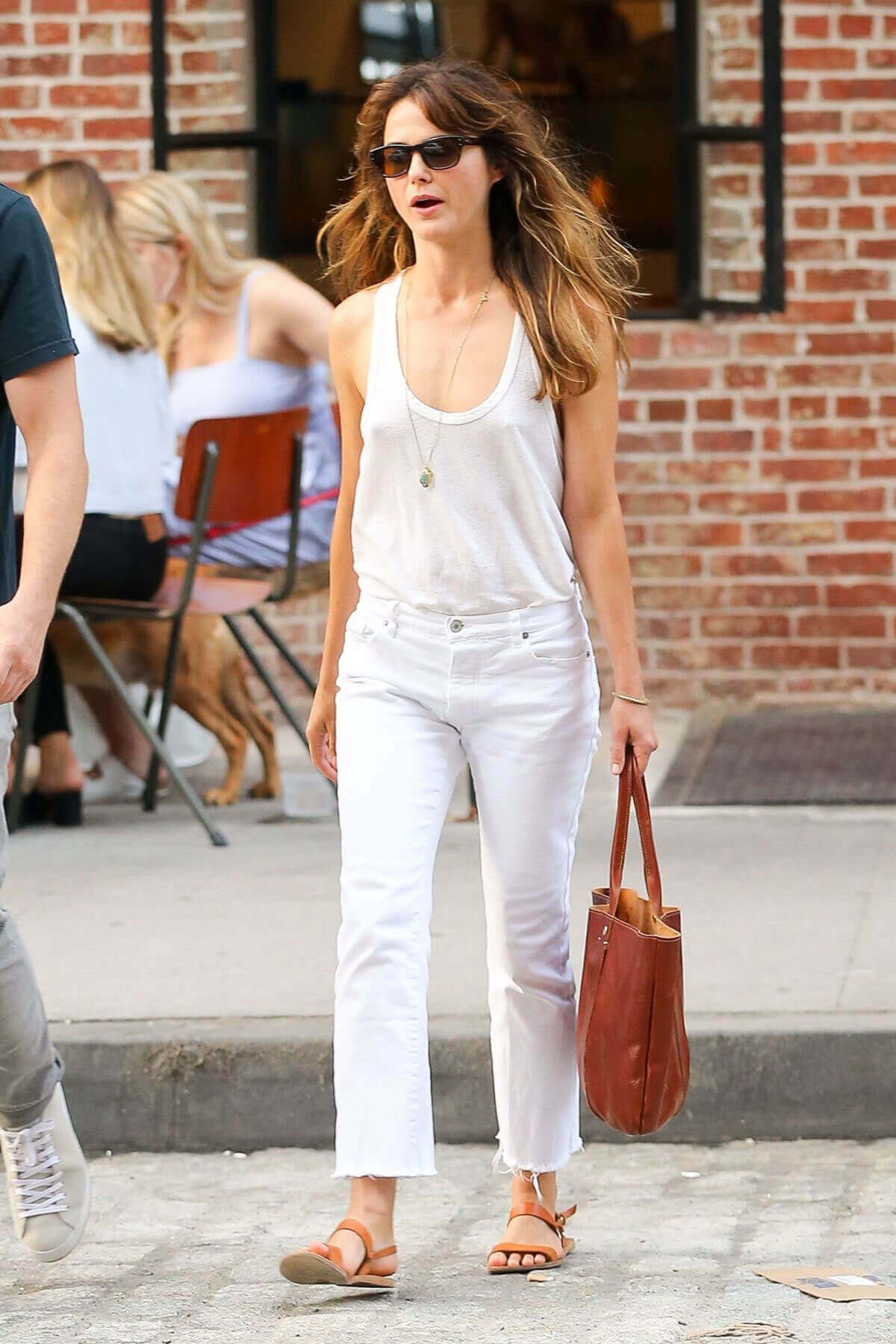 Keri Russell wears Tank Top & Jeans Out and About in New York