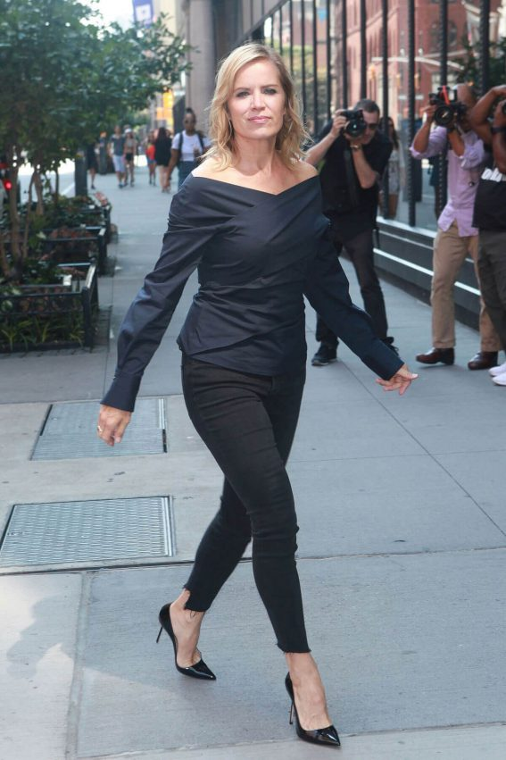 Kim Dickens Stills Out and About in New York