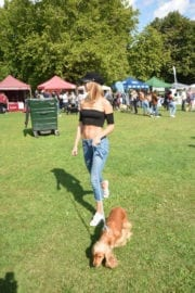 Kimberley Garner Stills with Her Dog at Pupaid 2017 in London