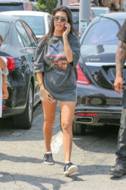 Kourtney Kardashian shows off legs in shorts out and about in Malibu