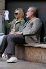 Kristen Bell Stills on the Set of Like Father in New York