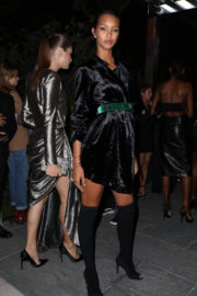 Lais Ribeiro wears Long Boots at Harper's Bazaar Icons Party in New York