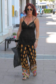 Lauren Simon Stills Leaves Golden Tarts Hair Salon in Marbella