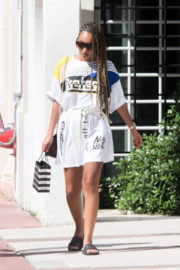 Leigh-Anne Pinnock Stills Out and About in Miami