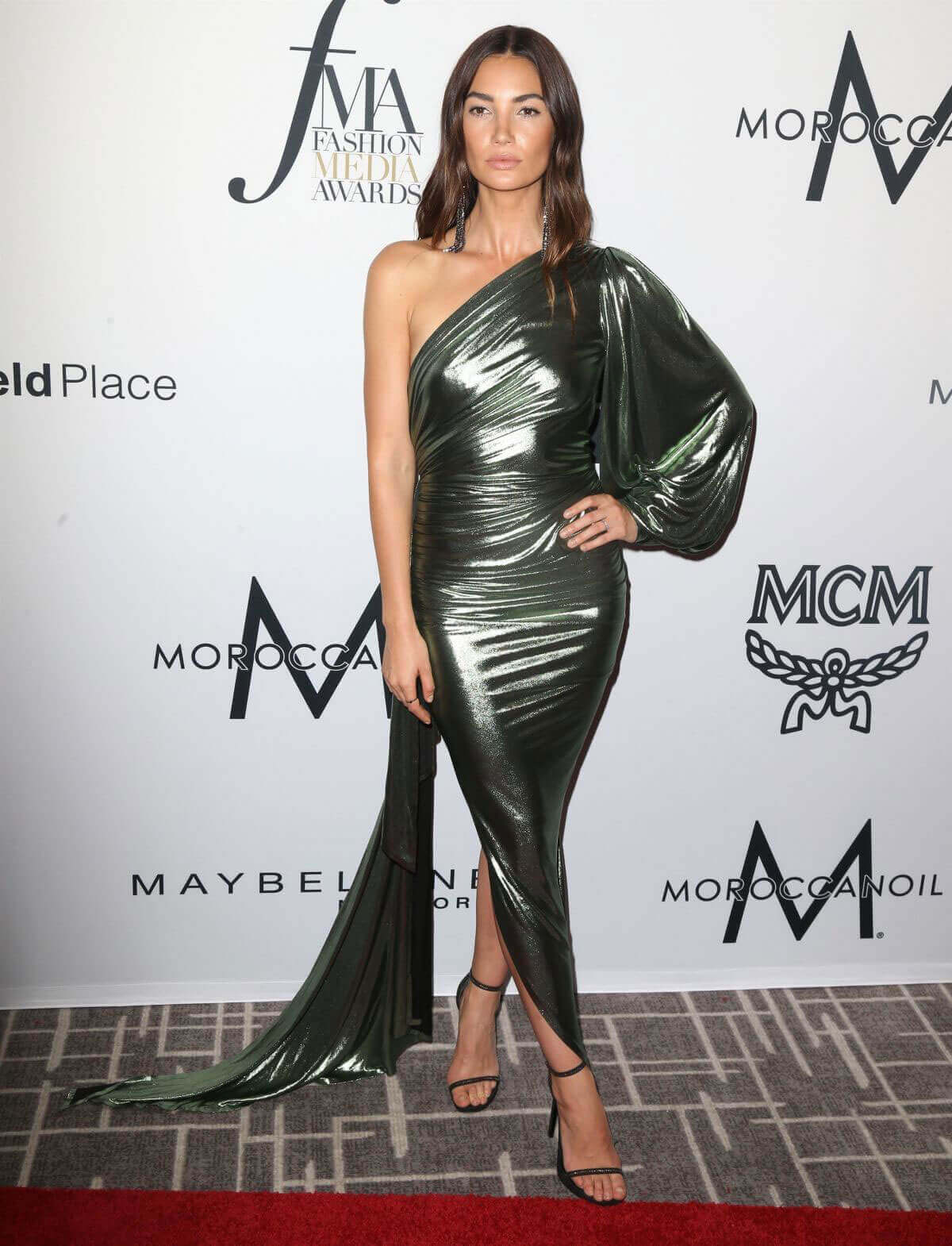 Lily Aldridge Stills at Daily Front Row's Fashion Media Awards in New York