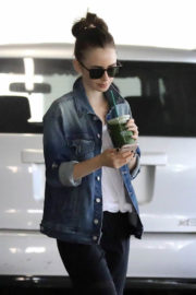 Lily Collins Stills Out for a Smoothie in Beverly Hills