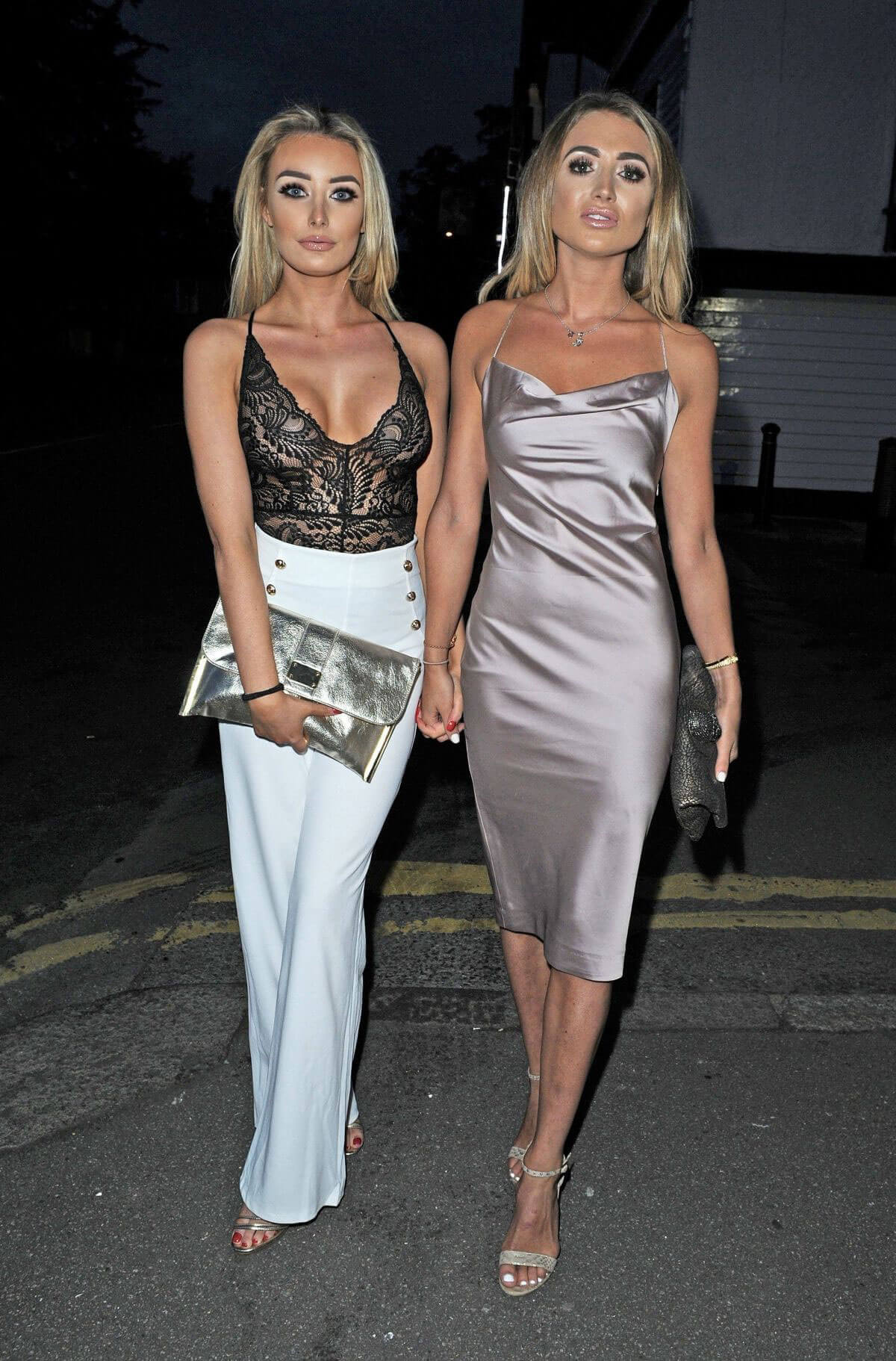 Love Island's Chloe Crowhurst and Georgia Harrison Stills Night Out in Essex