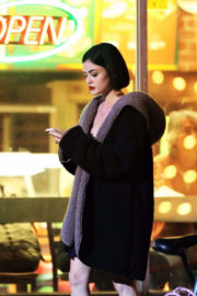 Lucy Hale Stills on the Set of Life Sentence in Vancouver