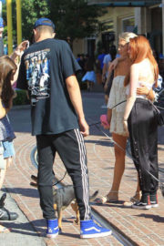 Madelaine Petsch and Travis Mills Walks Their Dogs Stills at The Grove in Hollywood