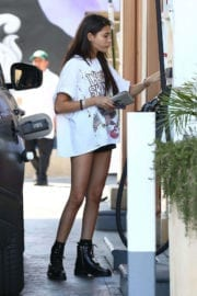 Madison Beer shows off hot legs in sorts at a Gas Station in Los Angeles