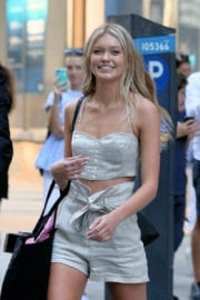 Maggie Laine Stills at Fittings for Victoria's Secret Fashion Show in New York