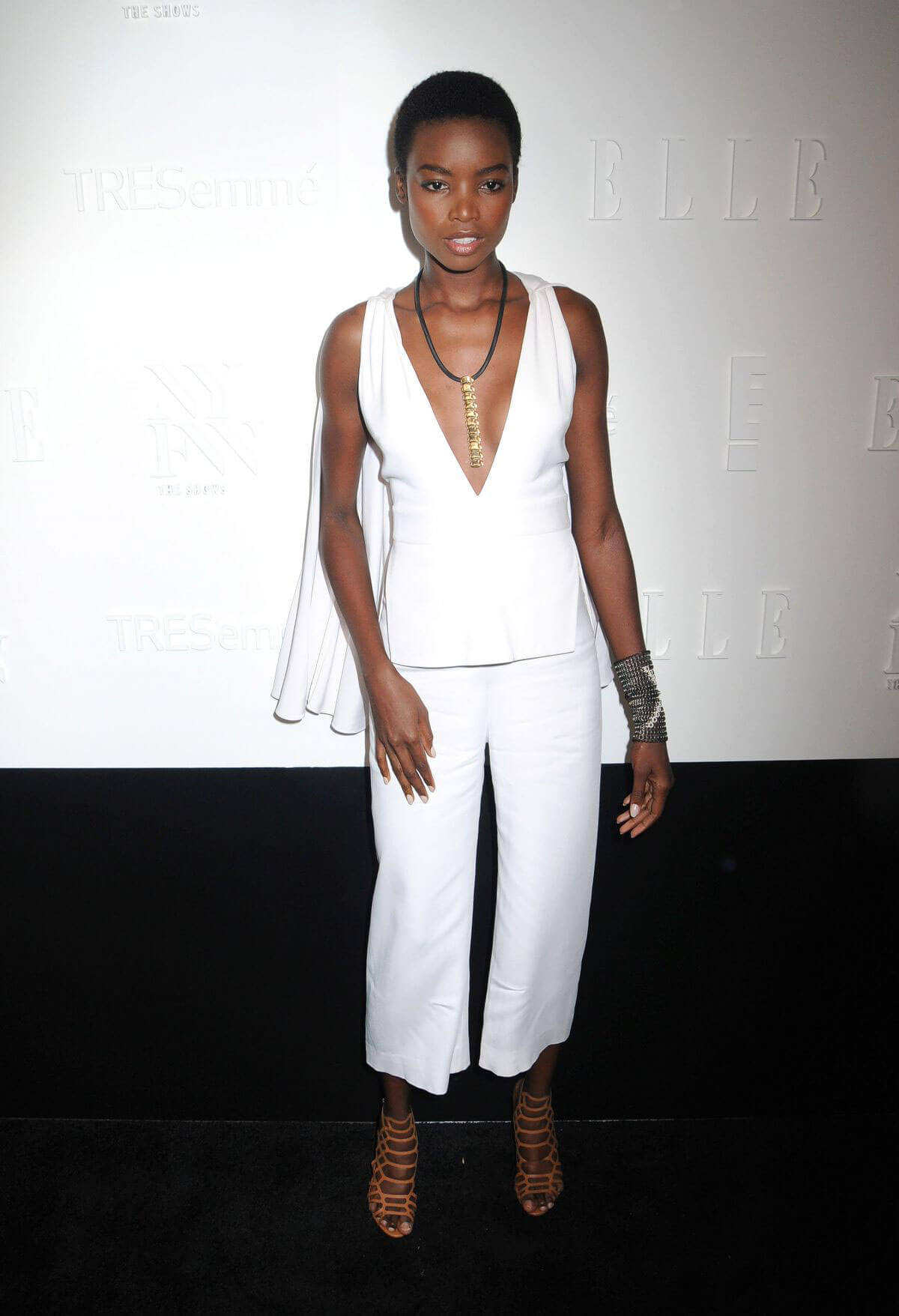 Maria Borges shows off cleavage at E!, Elle & Img Host New York Fashion Week Kickoff Party