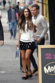 Megan Fox shows off legs in short skirt out and about in Mexico City