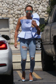 Mel B wears ripped jeans out and about in Studio City