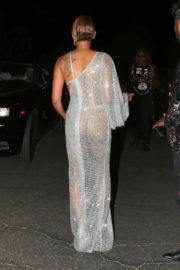 Mel B wears transparent dress & shows off deep cleavage night out in Los Angeles