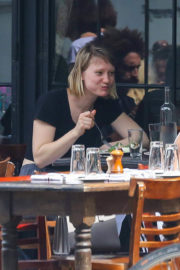 Mia Wasikowska Stills Out for Lunch in New York