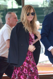 Michelle Pfeiffer Stills Arrives at Excelsior Hotel in Venice