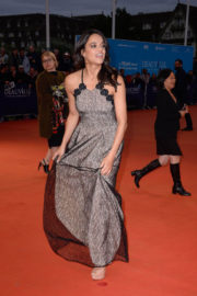 Michelle Rodriguez Stills at 'The Zookeepers Wife' Screening in Deauville