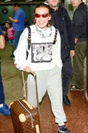 Millie Bobby Brown Stills at Guarulhos International Airport in Sao Paulo