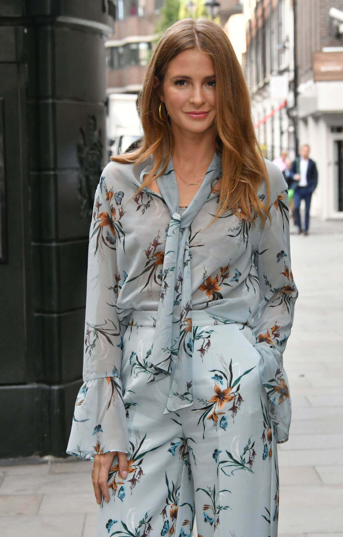 Millie Mackintosh wears floral co-ord dress out in London