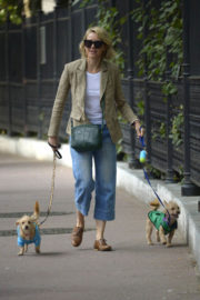 Naomi Watts Stills Out with Her Dogs in New York
