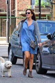 Natalie Imbruglia with Matt Field her Dog Stills Out in London