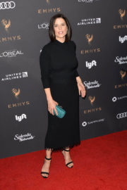 Neve Campbell Stills at Television Academy 69th Emmy Performer Nominees Cocktail Reception in Beverly Hills
