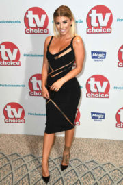Olivia Buckland flashes cleavage in dress at TV Choice Awards 2017 in London