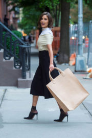 Olivia Culpo wears Long Skirt Out in New York