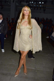 Paris Hilton shows off legs at Lanyu Fashion Show at NYFW in New York